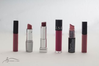 A line of lipstick sits on the light table in the photojournalism studio on Sunday, March 26, 2017. || Becca Tapp © 2017